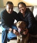 This wonderful active duty couple stepped up to adopt/foster a veterans dog while he works on readjusting to cilivan life